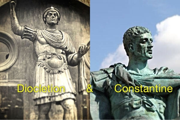 Emperors Diocletion and Constantine